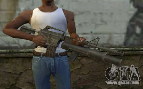 CAR-15 with XM-148 from Battlefield: Vietnam para GTA San Andreas tercera pantalla