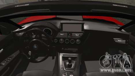 BMW Z4 sDrive28i 2012 Racing para GTA San Andreas vista posterior izquierda