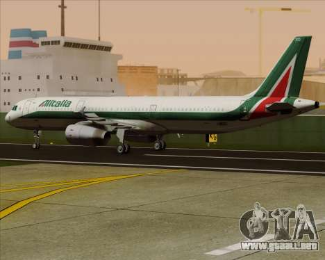 Airbus A321-200 Alitalia para visión interna GTA San Andreas