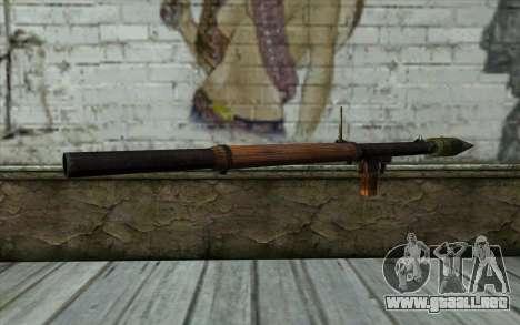 РПГ-2 (Battlefield: Vietnam) para GTA San Andreas segunda pantalla