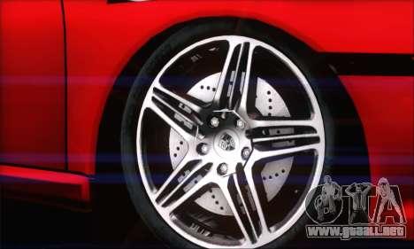 Porsche 997 Turbo Tunable para GTA San Andreas vista posterior izquierda