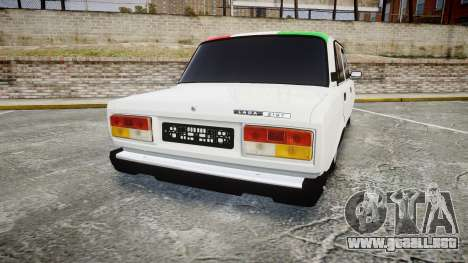 VAZ-2107 Italia para GTA 4 Vista posterior izquierda