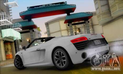 Audi R8 V10 Spyder 2014 para la visión correcta GTA San Andreas