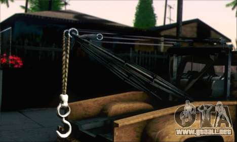 GTA 5 Towtruck Worn para GTA San Andreas vista posterior izquierda