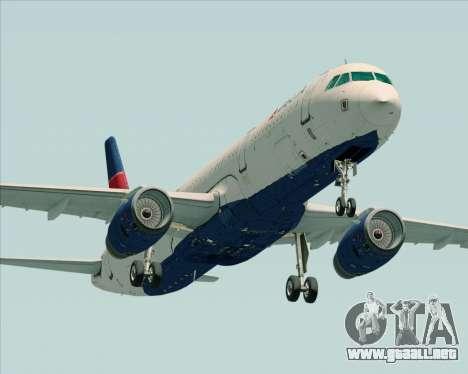 Airbus A321-200 Delta Air Lines para GTA San Andreas left