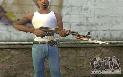 AK47 from Firearms v1 para GTA San Andreas tercera pantalla