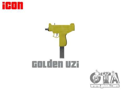 Golden Uzi para GTA 4 tercera pantalla