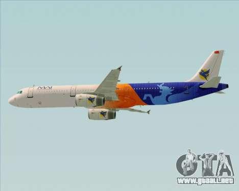 Airbus A321-200 Myanmar Airways International para vista inferior GTA San Andreas