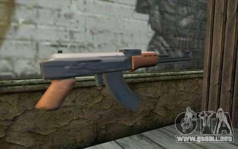 AK47 from Beta Version para GTA San Andreas segunda pantalla