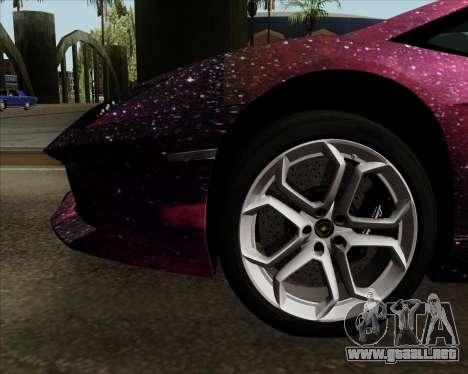 Lamborghini Aventador para vista inferior GTA San Andreas