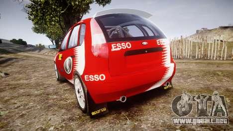 VAZ-Kalina 1119 RallyCross para GTA 4 Vista posterior izquierda