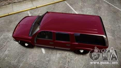 Chevrolet Suburban Undercover 2003 Black Rims para GTA 4 visión correcta