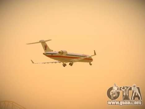 Bombardier CRJ-700 American Eagle para la vista superior GTA San Andreas