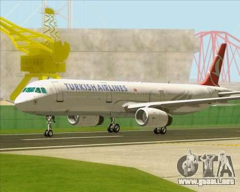 Airbus A321-200 Turkish Airlines para vista inferior GTA San Andreas