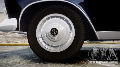 FSO Warszawa Ghia 1959 para GTA 4 vista hacia atrás