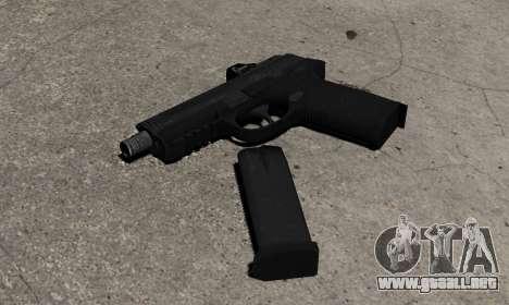 Pistola de FNP-45 para GTA 4 segundos de pantalla
