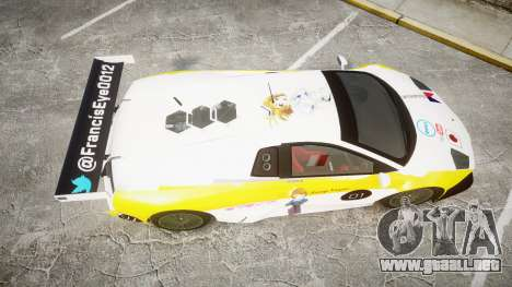 Lamborghini Murcielago GT1 Hanayo Koizumi para GTA 4 visión correcta