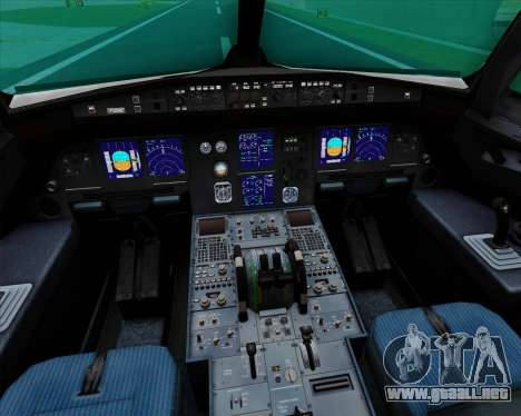 Airbus A321-200 Zoom Airlines para GTA San Andreas interior