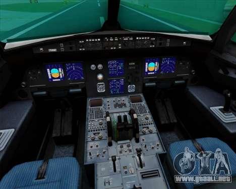 Airbus A321-200 Zoom Airlines para GTA San Andreas interior