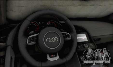 Audi R8 V10 Spyder 2014 para GTA San Andreas vista hacia atrás