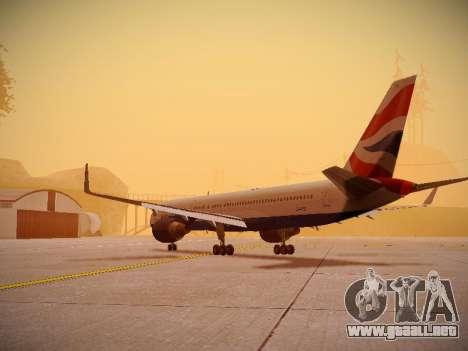 Boeing 757-236 British Airways para GTA San Andreas vista posterior izquierda