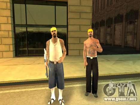 El cambio de las áreas de las pandillas y sus ar para GTA San Andreas sexta pantalla