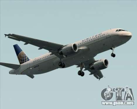 Airbus A320-232 United Airlines para visión interna GTA San Andreas