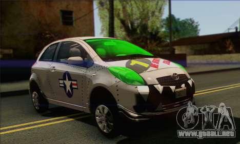 Toyota Yaris Shark Edition para la visión correcta GTA San Andreas