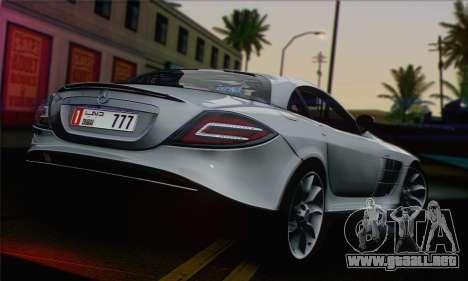Mercedes-Benz SLR McLaren para GTA San Andreas left