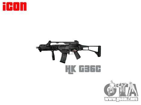 Fusil de asalto HK G36C para GTA 4 tercera pantalla