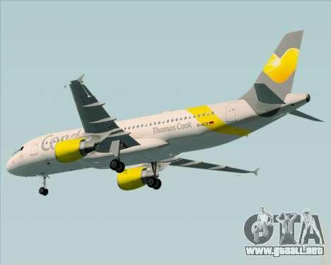 Airbus A320-212 Condor para GTA San Andreas vista hacia atrás