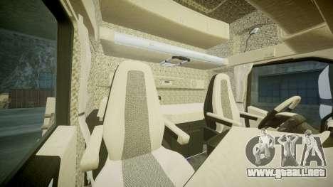 Volvo FH16 para GTA 4 vista interior