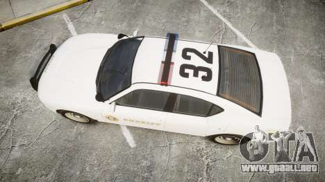 GTA V Bravado Buffalo LS Sheriff White [ELS] para GTA 4 visión correcta