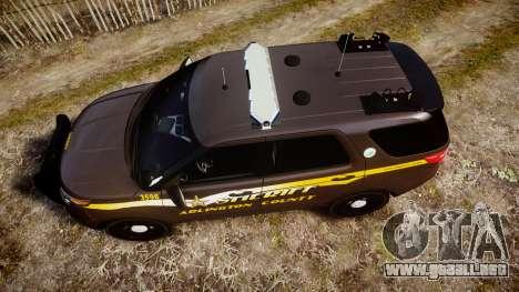 Ford Explorer 2013 Sheriff [ELS] Virginia para GTA 4 visión correcta