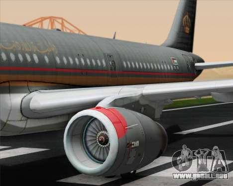 Airbus A321-200 Royal Jordanian Airlines para el motor de GTA San Andreas