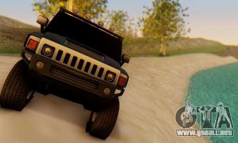 Hummer H6 Sut Pickup para GTA San Andreas vista hacia atrás