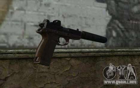 FN FNP-45 Con Silenciador y de la Vista para GTA San Andreas segunda pantalla