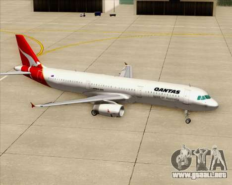 Airbus A321-200 Qantas para las ruedas de GTA San Andreas