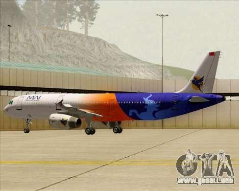 Airbus A321-200 Myanmar Airways International para las ruedas de GTA San Andreas