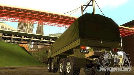 El KamAZ-6350 para la visión correcta GTA San Andreas