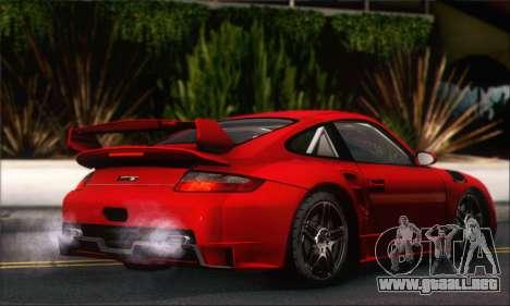 Porsche 997 Turbo Tunable para GTA San Andreas vista hacia atrás