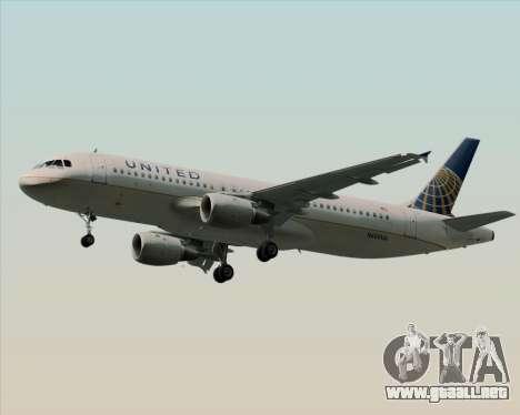 Airbus A320-232 United Airlines para la visión correcta GTA San Andreas