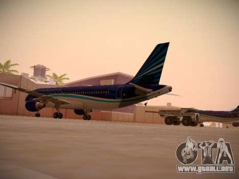 Airbus A320-214 Azerbaijan Airlines AZAL para la visión correcta GTA San Andreas