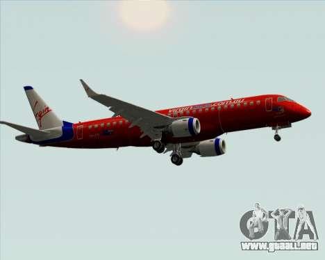 Embraer E-190 Virgin Blue para GTA San Andreas vista hacia atrás