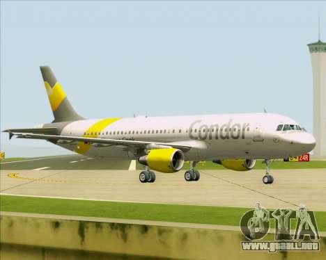 Airbus A320-212 Condor para GTA San Andreas vista posterior izquierda