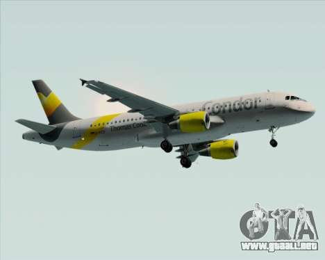 Airbus A320-212 Condor para la visión correcta GTA San Andreas