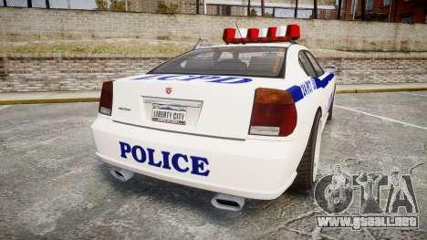 Bravado Buffalo Police para GTA 4 Vista posterior izquierda