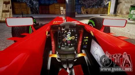Ferrari F138 v2.0 [RIV] Massa TMD para GTA 4 vista hacia atrás