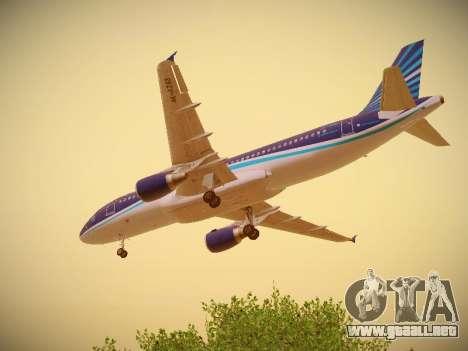 Airbus A320-214 Azerbaijan Airlines AZAL para vista inferior GTA San Andreas