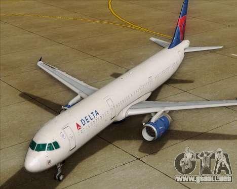 Airbus A321-200 Delta Air Lines para las ruedas de GTA San Andreas